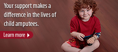 Your support makes a difference in the lives of child amputees. Learn more